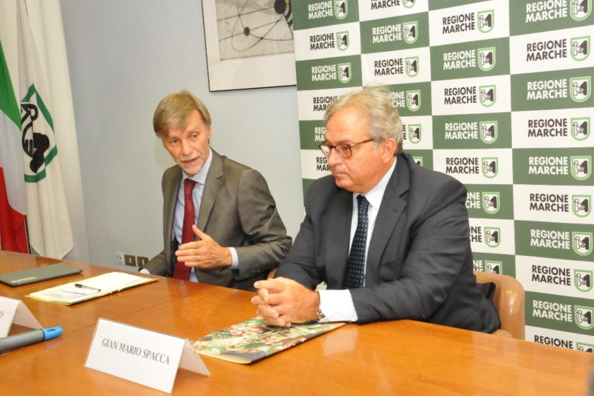 Il Ministro Delrio incontra il presidente Spacca