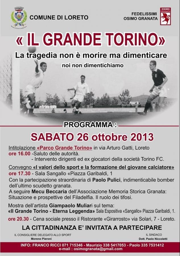 A Loreto si ricorda il «Grande Torino»