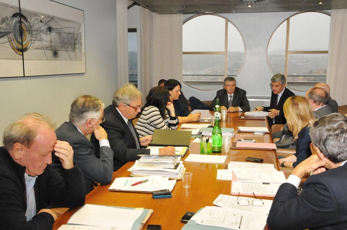 La Giunta regionale incontra il Cda e il Collegio sindacale di Aerdorica