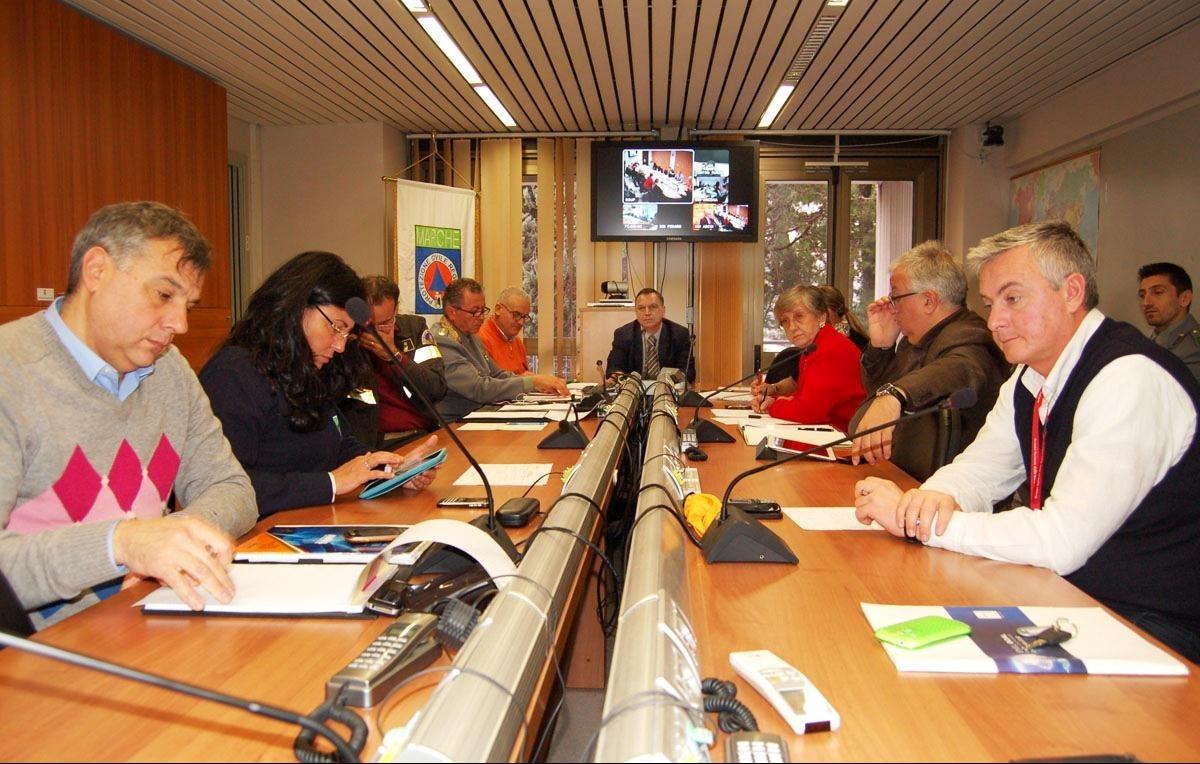 Maltempo, riunione delle protezione civile